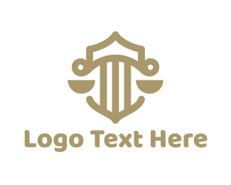 Lawfirm - Legal Pillar Scales logo design