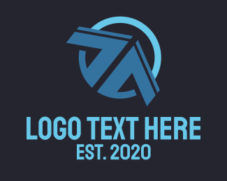 Drone - Blue Arrow  logo design