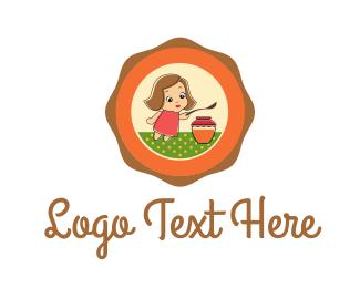 Doll - Orange Jam logo design