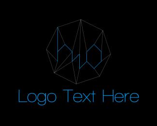 H2o - Water Crystal logo design