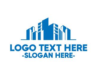 Skyline - Modern Blue City logo design