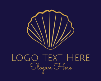Seashell - Gold Elegant Seashell logo design