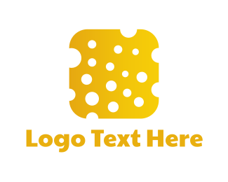 Yellow Cheese - Cheese App logo design