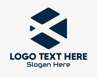 Tilted - Geometric Hexagon Letter X logo design