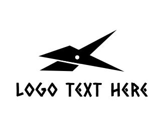 Cut - Black Scissors logo design