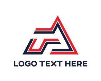 Egames - Geometric Stripe RA   logo design