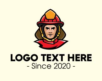Rescue Team - Fireman Rescue Mascot logo design