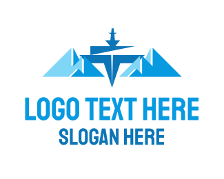 Glacial - Ice Mountains logo design