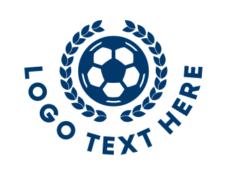Soccer Championship - Soccer Ball Wreath logo design