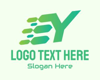 Speed - Green Speed Motion Letter Y logo design