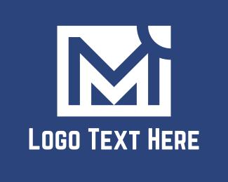 White - White M logo design
