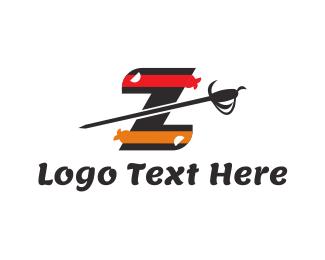 Warrior - Warrior Letter Z logo design