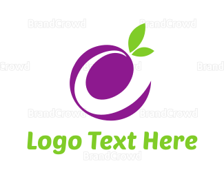 Letter E - Letter E Grape logo design