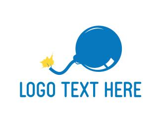 Explosion - Blue Bomb logo design