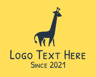 Animal - Giraffe Animal logo design