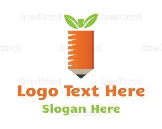 Carrot - Carrot Pencil logo design