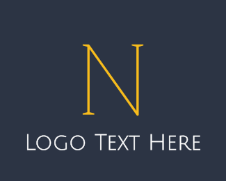Designer - Elegant Yellow N logo design