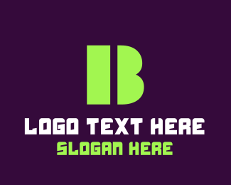 Web Solutions - Green Bold Letter B logo design