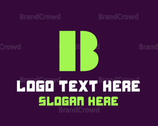 """""""Green Bold Letter B"""" by BrandCrowd"""