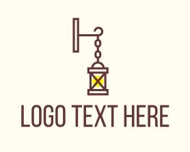 Light - Hanging Lamp Lighting logo design