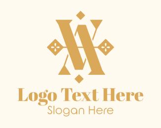 Vintage - Luxurious Monogram VA logo design
