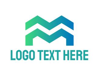 Roofer - Professional Letter M logo design