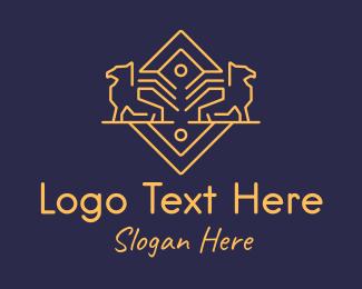 Management - Golden Griffin logo design