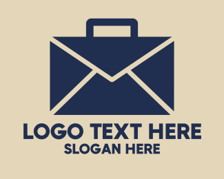 Mail - Mail Briefcase logo design
