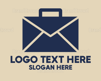 Text Message - Mail Briefcase logo design