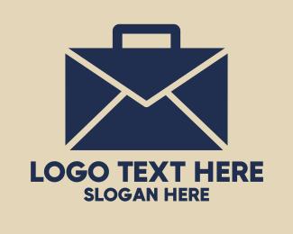 Mail - Mail Briefcase logo design