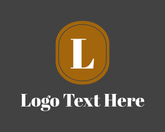 Text - Oval Gold Lettermark logo design