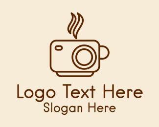 Photograph - Camera Cup Cafe  logo design