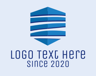 Mic - Blue Shield logo design