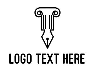 Court House - Law Pen logo design