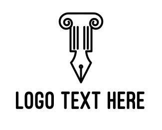 Law - Law Pen logo design