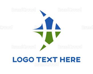 Sailing - Blue & Green Sails logo design