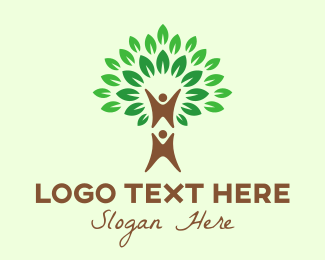 Family Tree - Green Tree Support logo design