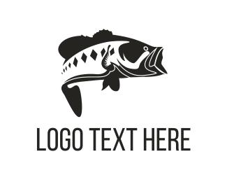 Reel - Bass Fish logo design
