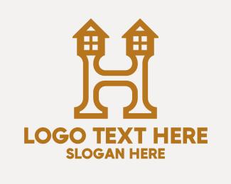 Letter H - Letter H House logo design