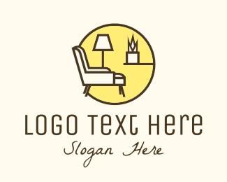 Living Room - Room Furniture Shop logo design