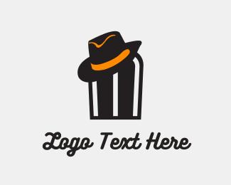 Gangster - Hat Man logo design