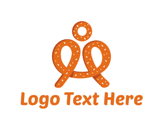 Brown Man - Pretzel Man logo design