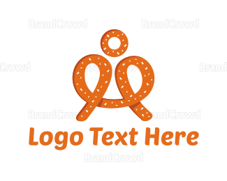 Bakeshop - Pretzel Man logo design