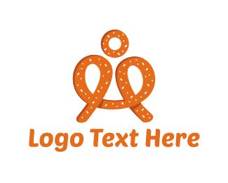 Man - Pretzel Man logo design