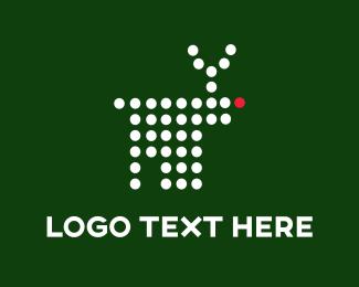 Moose - Digital Reindeer logo design