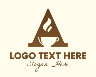 Coffee Store - Brown Letter A Coffee logo design