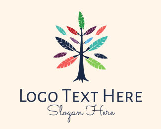 Quill - Feather Tree logo design