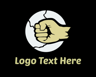 Fist - Rock Fist logo design