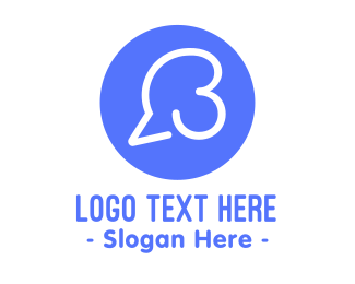 Speech Bubble - Speech Bubble Number 3 logo design