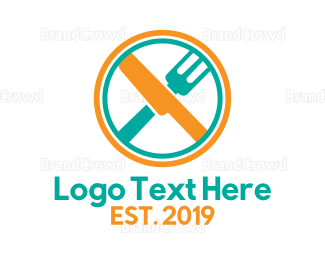 Dining - Abstract Plate Dining logo design
